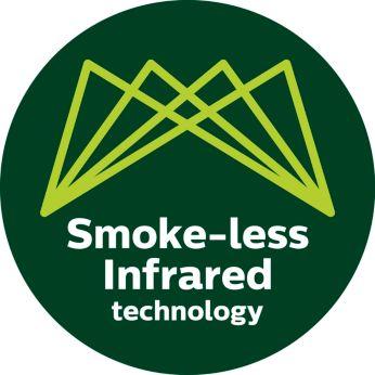 Avanzada tecnología de calor infrarrojo para reducir el humo en hasta un 80%