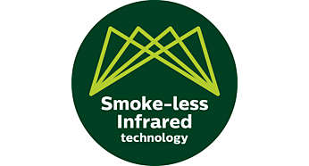 Advanced infrared heat technology for up to 80% less smoke