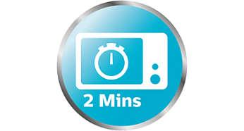 Esterilizador a vapor para microondas que está listo en solo 2 minutos