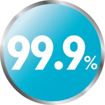 Naturalna sterylizacja parowa zabija do 99,9% niebezpiecznych zarazków