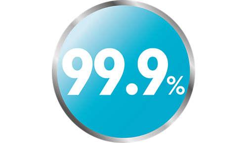 Natürliche Dampfsterilisation tötet 99,9% aller schädlichen Keime ab.