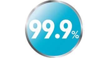 Natūralus garų sterilizavimas sunaikina 99,9 % žalingų mikrobų