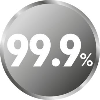 Η φυσική αποστείρωση με ατμό σκοτώνει το 99,9% των βλαβερών μικροβίων