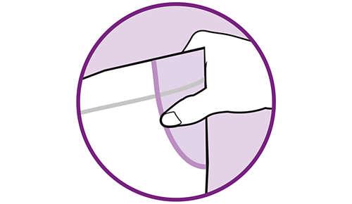 Turvakäsittelyalueen ansiosta pussi on turvallinen nostaa mikroaaltouunista