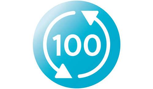 Dampsterilisering i mikrobølgeovn op til 100 gange pr. pakke