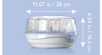 Lätt design för sterila nappflaskor i farten
