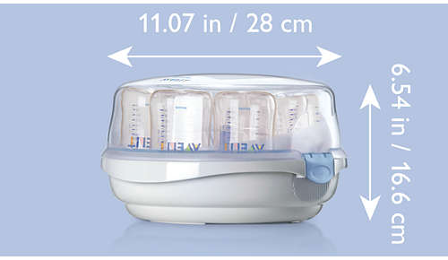 Lightweight design for sterile baby bottles on the go