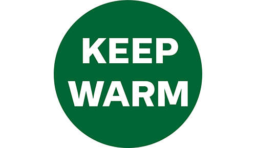 Keep your food warm with keep warm function