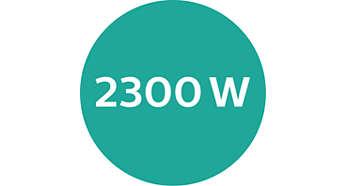 Un séchage rapide et performant à 2300W