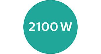 Silny nadmuch dzięki mocy silnika DC na poziomie 2100 W