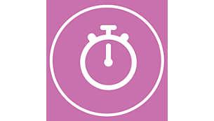 1-Minuten-Programm (Timer) für das ganze Gesicht
