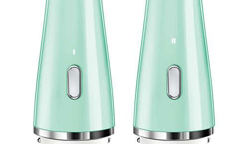 Zwei Intensitätsstufen: sanfte Reinigung und gründliche Reinigung