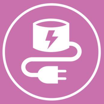 Подключенная к сети подставка заряжает Philips VisaPure Essential
