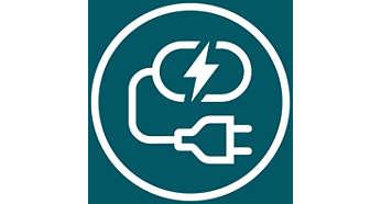 連接充電座可為飛利浦 VisaPure Essential 充電