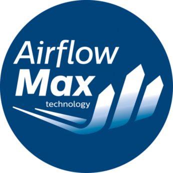 Revolucionāra AirflowMax tehnoloģija lielai sūkšanas jaudai