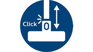 Spojky ActiveLock pro snadné nastavení vysavače