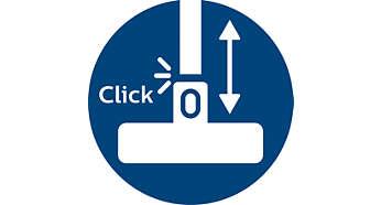 Verrouillage ActiveLock pour une adaptation facile à chaque surface de nettoyage