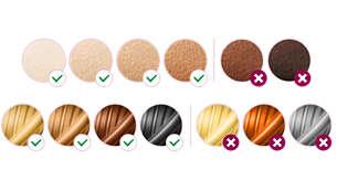 Adequado para diferentes tipos de pêlo e tons de pele