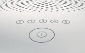 Five adjustable light energy settings