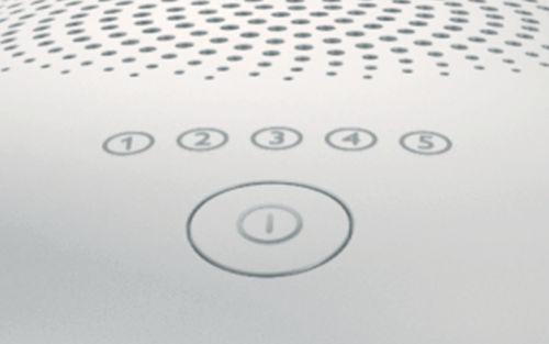 Pět nastavitelných stupňů světla pro různé energetické nastavení
