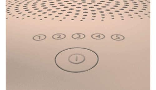 Pięć regulowanych ustawień intensywności światła