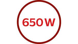 Motor de 650 W para un procesado potente