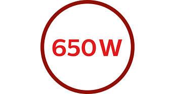 Potência de 650W