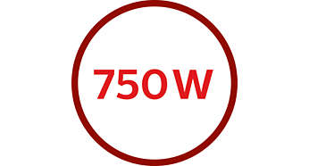 Motor de 750W para um processamento potente
