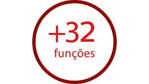 Acessórios para executar facilmente mais de 32 funções
