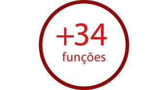 Acessórios para executar facilmente mais de 34 funções
