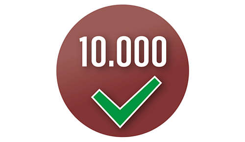 Machine is meer dan 10.000 keer getest om een consistente kwaliteit te garanderen