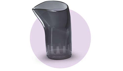 Úzká koncovka zajišťuje koncentrovaný proud vzduchu