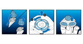 Cabezales de afeitado fáciles de reemplazar
