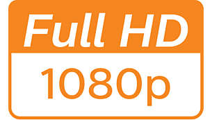 Vivid details with 1080p Full HD definition