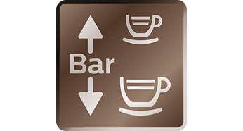 Variabele druk voor koffie en espresso zetten