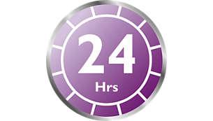 Được giữ khử trùng lên đến 24 giờ nếu nắp được đóng