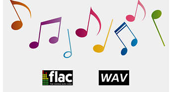 Support lossless audio formats for clear and authentic sound