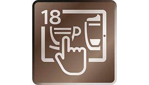 Zubereitung von 18 Getränken direkt von Ihrem Smartphone aus