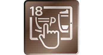 Приготвя 18 напитки директно от смарт устройство