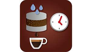 Peenhäälestage kohvi maitset eelkeetmisaja seadistamisega
