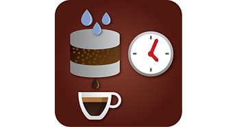 Állítsa be pontosan a kávé ízét az előfőzési idő szabályozásával