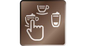 Un grand nombre de spécialités de l'espresso au latte macchiato