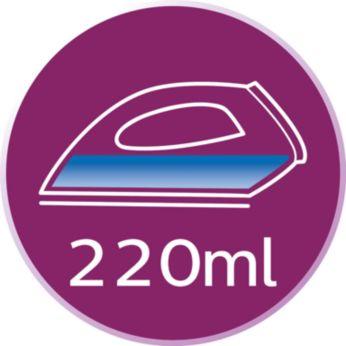 Большой резервуар для воды (220мл), удобное заполнение