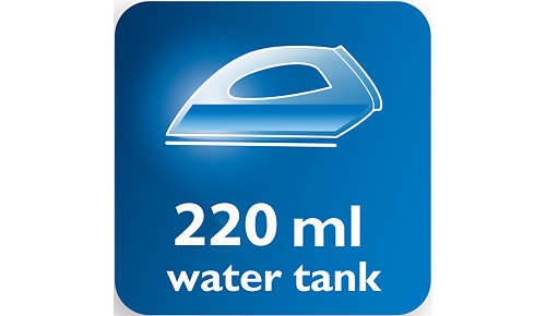 Stor vandtank på 220 ml og praktisk påfyldning af vand