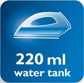 Большой резервуар для воды (220 мл), удобное заполнение