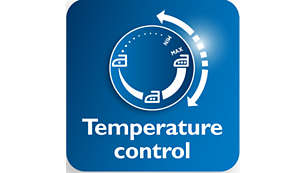 Larger temperature dial for easier temperature adjustment