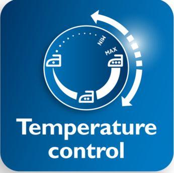 Didesnis temperatūros diskelis, kad būtų lengviau nustatyti norimą temperatūrą