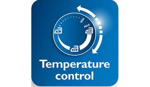 Größerer Temperaturregler für einfachere Temperatureinstellung
