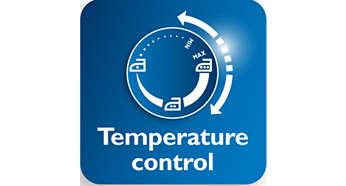 Maior controle de temperatura para facilitar o ajuste para cada peça de roupa