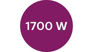 功率高达 1700 瓦,可提供持久强劲的蒸汽输出
